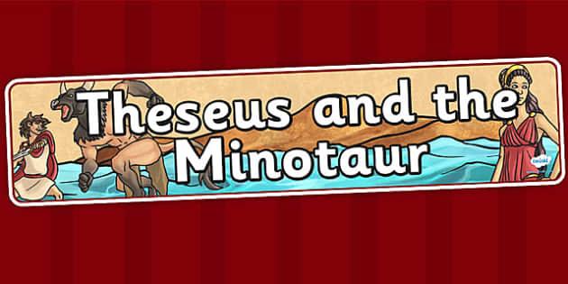 Theseus and the Minotaur Display Banner - theseus, minotaur