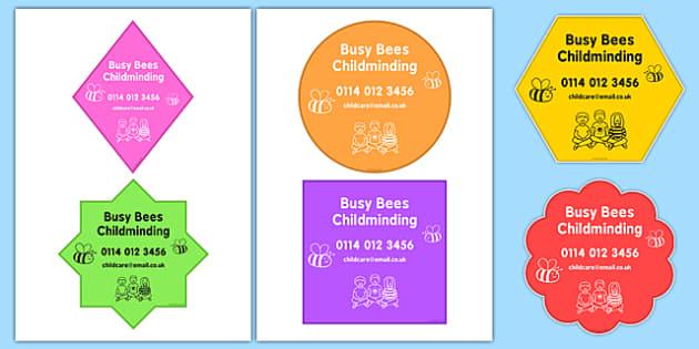 Editable Childminder Setting Signs - editable, childminder, setting, signs