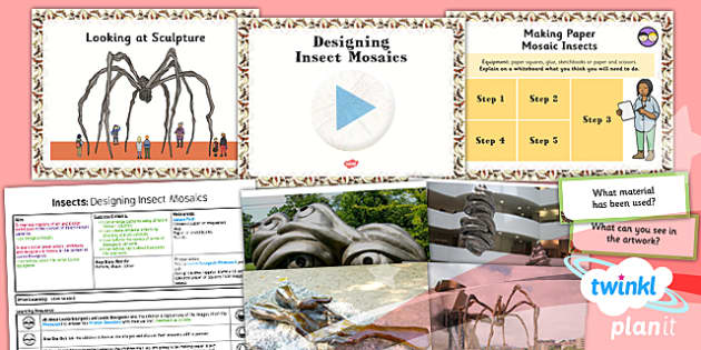 PlanIt - Art LKS2 - Insects Unit Lesson 3:  Designing Insect Mosaics Lesson Pack