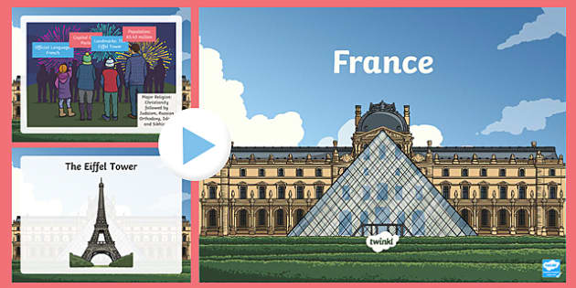 France Information PowerPoint - france, france powerpoint, information about france, france information powerpoint, places, around the world, countries
