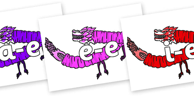 Split Digraphs on Chinese Paper Dragons - Modifying E, letters, modify, Phase 5, Phase five, alternative spellings for phonemes, DfES letters and Sounds