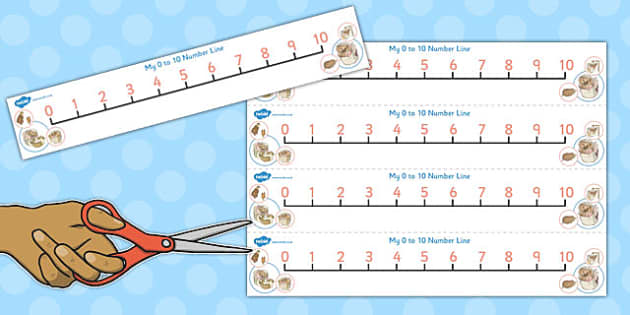The Tale of Mrs Tiggy Winkle Number Lines 0-10 - mrs tiggy winkle