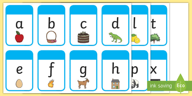 Alphabet Flashcards - alphabet, flashcards, flash, cards, letters