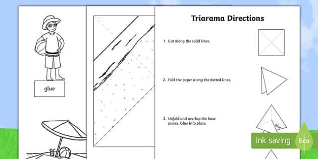 Summer Themed Triarama - triorama, end of the year, classroom art, diorama, transition, beach, summer, summertime, summer hol