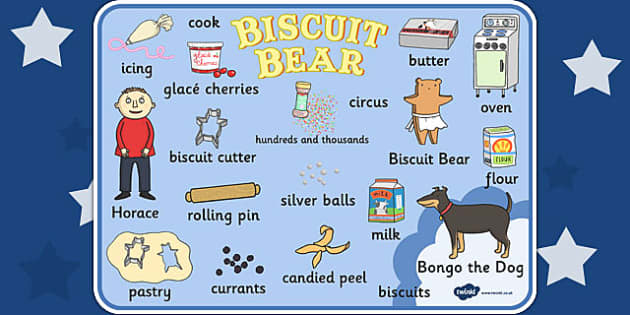 Word Mat to Support Teaching on Biscuit Bear - biscuit, bear, word, mat, bongo, dog