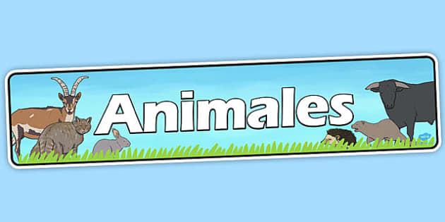 Spanish Animals Banner - spanish, animals, display banner, banner