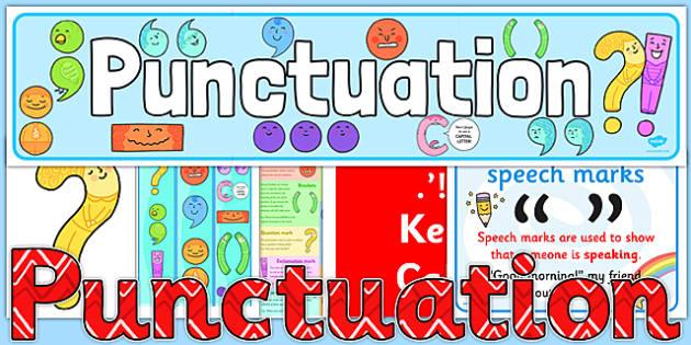 Punctuation Display Pack - punctuation, display, pack, ks2