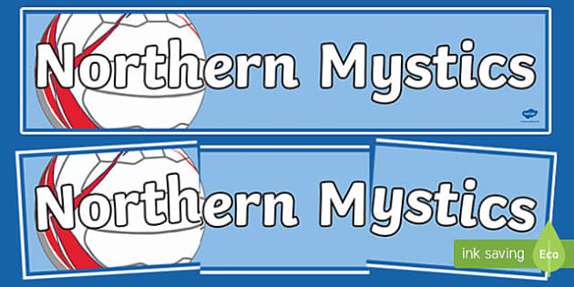 Northern Mystics Netball Display Banner