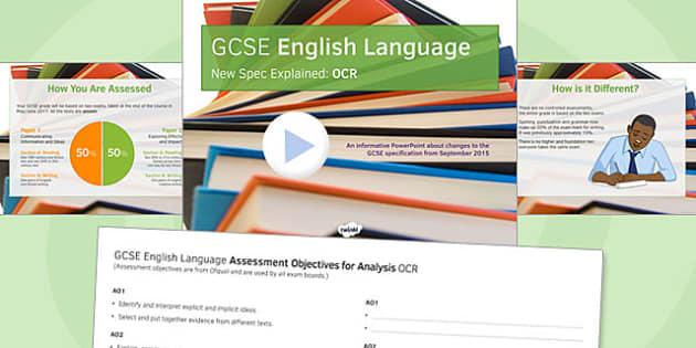 GCSE English Language New Spec Explained OCR - gcse, new spec, ocr