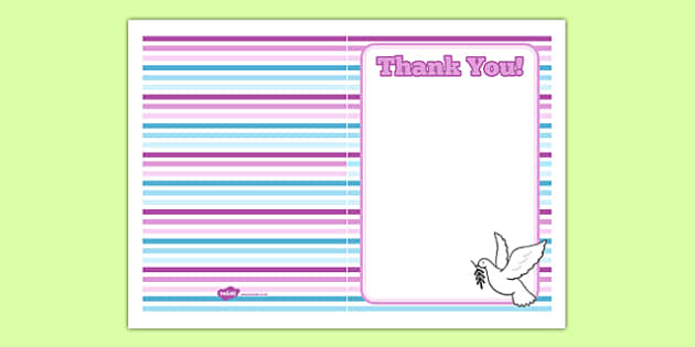 Baptism Thank You Card - Baptism, party, decorations, new parents