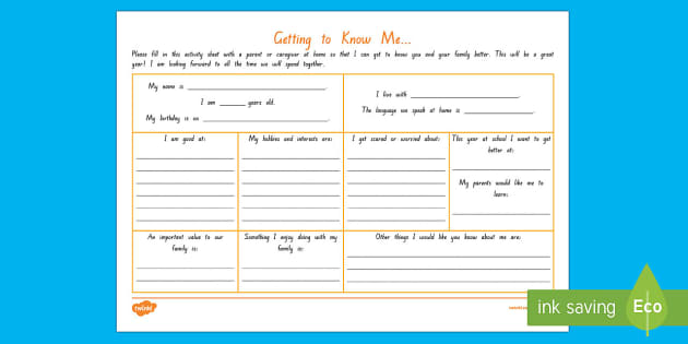All about me home/school connection Activity - New Zealand, Back to School, home and school connection, student agency, IYT, home learning, beginni