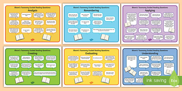 Guided Reading Questions by Bloom's Taxonomy - question, read