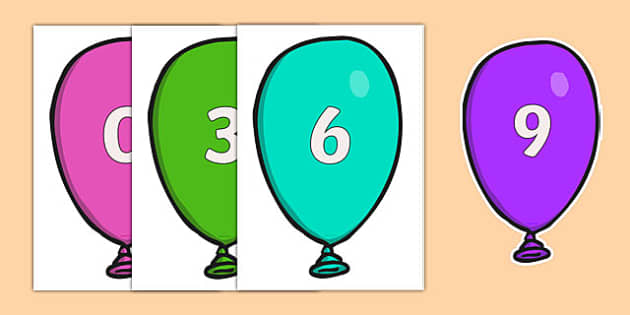 Counting in 3s on Balloons - Counting, Numberline, Number line, Counting on, Counting back, even numbers, foundation stage numeracy, counting in 2s
