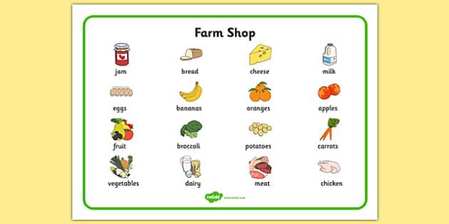 Farm Shop Word Mat - farm shop, farm, word mat, word, mat, words