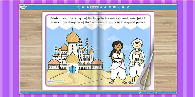 Aladdin eBook - books, interactive books, read, traditional tales
