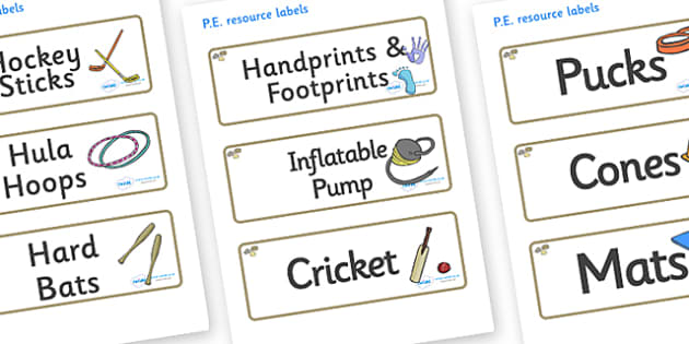 Pebble Themed Editable PE Resource Labels - Themed PE label, PE equipment, PE, physical education, PE cupboard, PE, physical development, quoits, cones, bats, balls, Resource Label, Editable Labels, KS1 Labels, Foundation Labels, Foundation Stage Lab