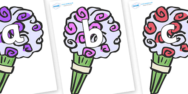 Phoneme Set on Bouquets - Phoneme set, phonemes, phoneme, Letters and Sounds, DfES, display, Phase 1, Phase 2, Phase 3, Phase 5, Foundation, Literacy