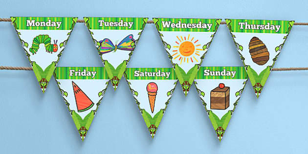 Days of the Week Bunting to Support Teaching on The Very Hungry Caterpillar - australia