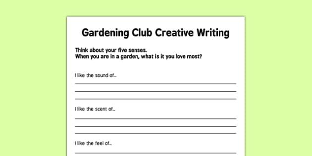 Elderly Care Gardening Club Creative Writing Activity - Elderly, Reminiscence, Care Homes, Gardening Club