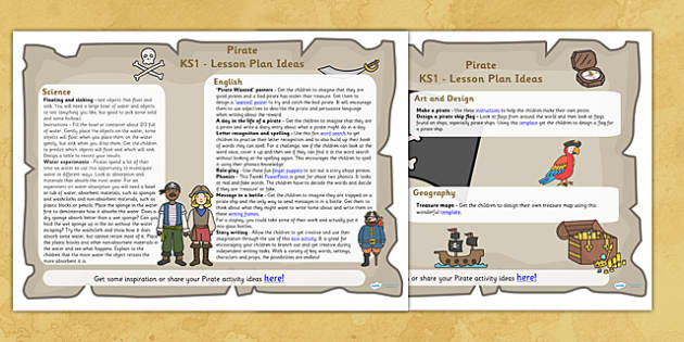 Pirates Lesson Plan Ideas KS1 - pirates, lesson plan, KS1, lesson