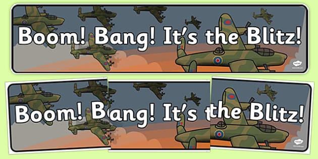 Boom Bang It's the Blitz Display Banner - boom, bang, blitz, display banner, display, banner