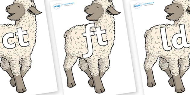 Final Letter Blends on Lamb - Final Letters, final letter, letter blend, letter blends, consonant, consonants, digraph, trigraph, literacy, alphabet, letters, foundation stage literacy