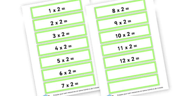 2 Times Table Cards - Times Tables Primary Resources, multiply, times, number of, games, Times, Table, Tabe