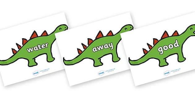 Next 200 Common Words on Dinosaurs - Next 200 Common Words on  - DfES Letters and Sounds, Letters and Sounds, Letters and sounds words, Common words, 200 common words