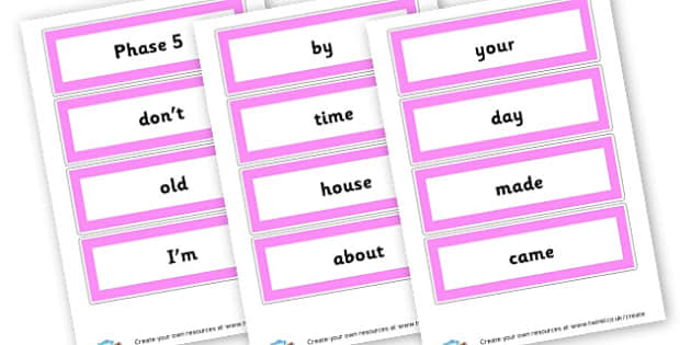Phase 5 high frequency words - Phase 5 Visual aids Primary Resources, Phase One, Letters, sounds