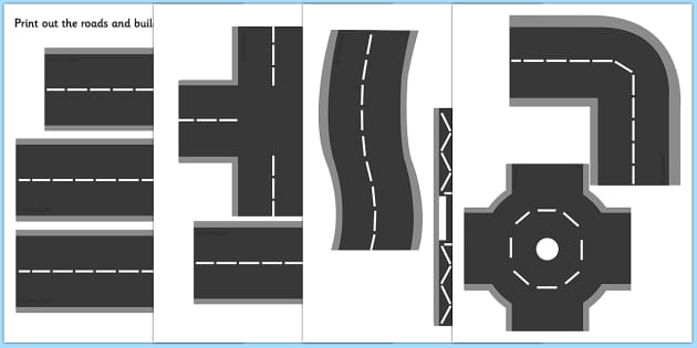 T T 9800 Printable Roads on Cutting Skills Printables