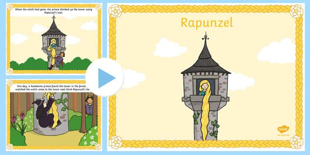 Rapunzel Story PowerPoint - rapunzel, story books, trad tales
