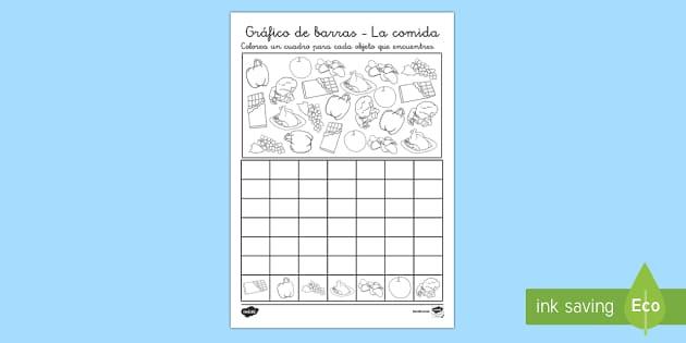 Ficha de actividad: Gráfico de barras - La comida