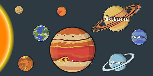 Scale Solar System Cut Outs - solar, system, scale, planets, cut