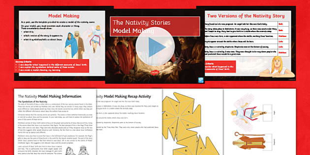 The Nativity Model Making Lesson Pack