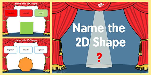 Name the 2D Shape Year 6 PowerPoint Quiz - quiz, 2d, shape, 6
