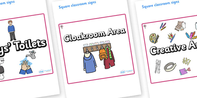 Cherry Tree Themed Editable Square Classroom Area Signs (Plain) - Themed Classroom Area Signs, KS1, Banner, Foundation Stage Area Signs, Classroom labels, Area labels, Area Signs, Classroom Areas, Poster, Display, Areas