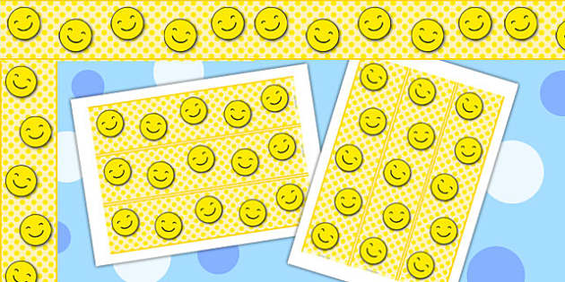 Smiley Display Borders - border, displays, smile, faces, frames
