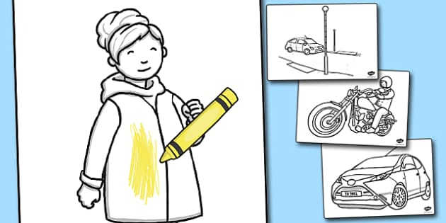 Road Safety Colouring Sheets - Road, Safety, Safe, Colour, Sheet