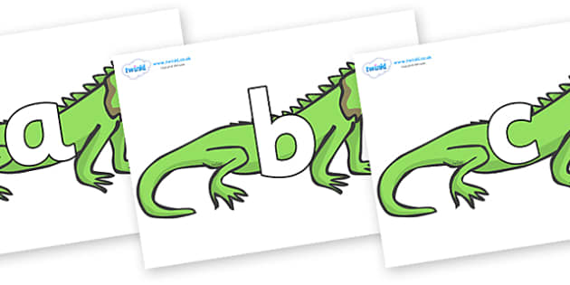 Phoneme Set on Iguanas - Phoneme set, phonemes, phoneme, Letters and Sounds, DfES, display, Phase 1, Phase 2, Phase 3, Phase 5, Foundation, Literacy