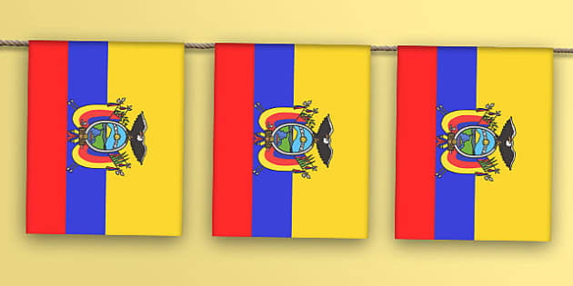 Ecuador Flag Bunting - flag, world, country, countries, South America, display, Olympics, Rio, 2016, celebrate, event
