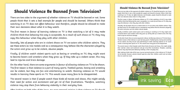 should television be banned from children Television and children why and to what extent should parents control their children's tv watching there is certainly nothing inherently wrong with tv.