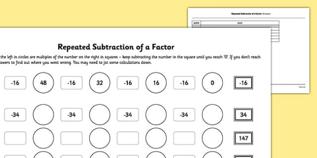 Common Worksheets Division As Repeated Subtraction Worksheet – Division As Repeated Subtraction Worksheet