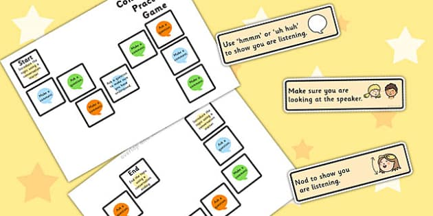 Conversation Practice Game 3 Colours - games, SEN games, friends