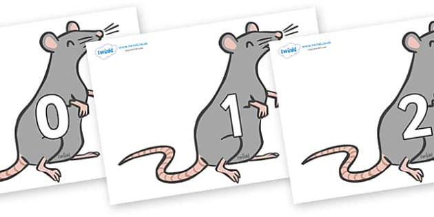 Numbers 0-50 on Rats - 0-50, foundation stage numeracy, Number recognition, Number flashcards, counting, number frieze, Display numbers, number posters
