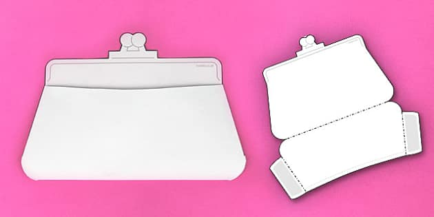 Interactive Purse-Shaped Pocket Visual Aid Template - Visual aid