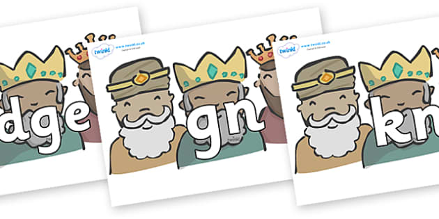 Silent Letters on Three Kings - Silent Letters, silent letter, letter blend, consonant, consonants, digraph, trigraph, A-Z letters, literacy, alphabet, letters, alternative sounds