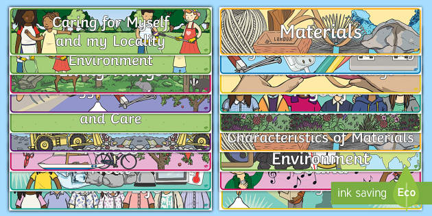 ROI Science Strands and Strand Units Display Banner Pack - science, curriculum, strands, strand units, display banners, display area, living things, materials,