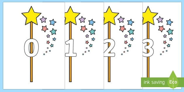 Numbers 0-31 on Wands - 0-31, foundation stage numeracy, Number recognition, Number flashcards, counting, number frieze, Display numbers, number posters