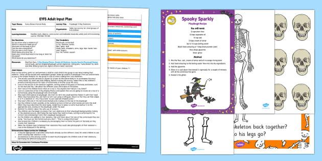 EYFS Playdough X-Ray Skeletons Adult Input Plan and Resource Pack
