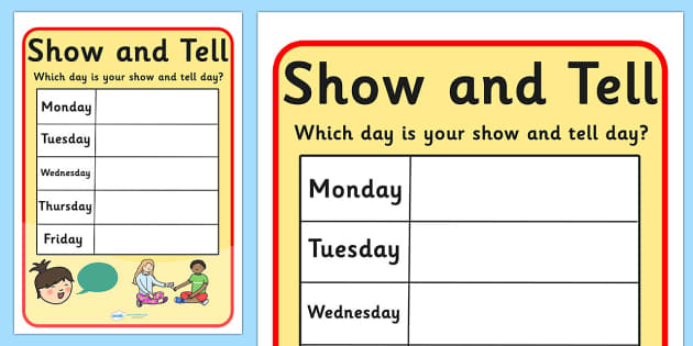 Show and Tell Editable Display Poster - show and tell, show, tell, posters, display posters, themed posters, images, pictures, key words, keywords, display